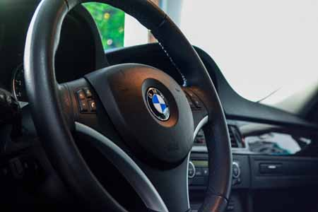 BMW Interior - steering wheel after a full detail