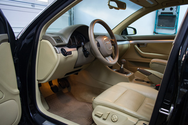Audi A4 - Interior Detailing Services - Driver Side door opened