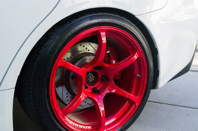 Mitsubishi Evolution Red Wheel very clean