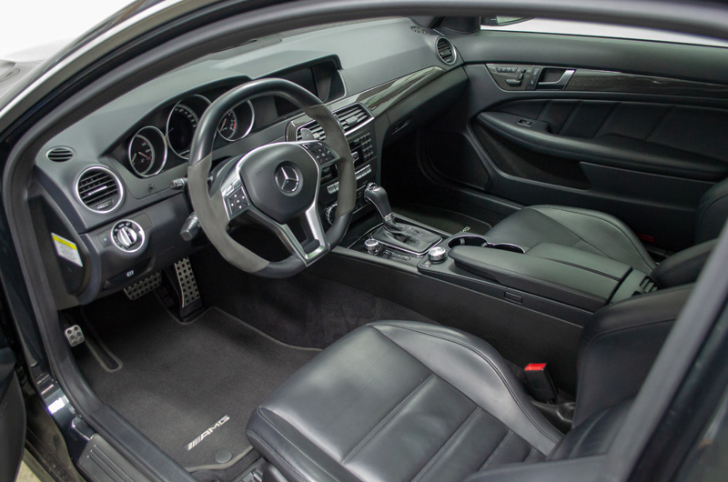 2012 Mercedes C63 AMG Interior Detailed by Tabula Rasa Fine Auto Detailing