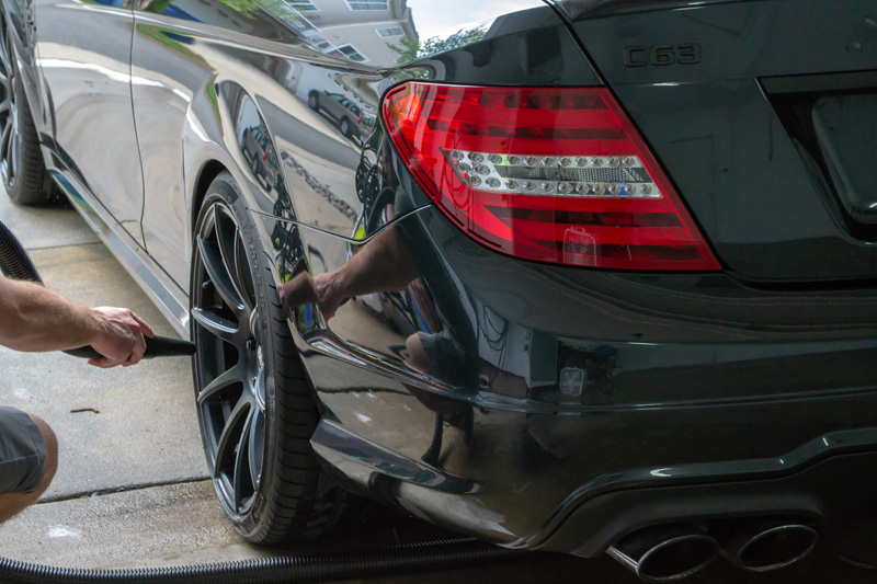 Drying Forgeline Performance Wheels on a Mercedes C63